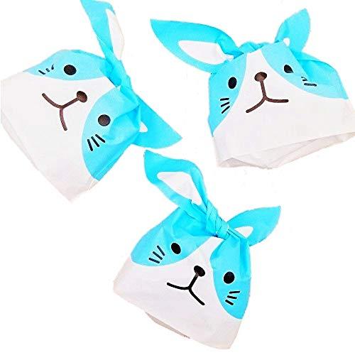Jzk 50 sacchetti orecchie coniglio bustine porta confetti spuntini caramelle biscotti sacchetti bomboniere confettata per festa bambini compleanno pasqua halloween
