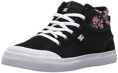 DC , Jungen Skateboardschuhe mehrfarbig schwarz / weiß Black/Print