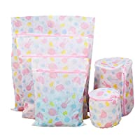 5PCS Printed Thickened Clothes-Washing Bag for Washing Machine Clothes Protector Laundry Bag