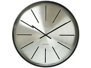 Karlsson KA5319 Horloge Maxiemus Traits Noir Mat Métal Diamètre: 60 cm