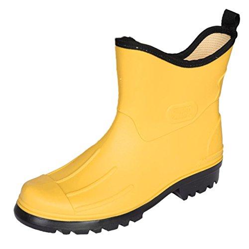 Bockstiegel Herren Jungen Gummistiefel Peter aus Polyvinylchorid (PVC) Regenstiefel Stiefelette, Farbe:gelb, Größe:46 EU