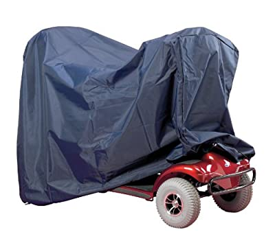 Homecraft Mini Scooter Storage Cover, Heavy Duty PVC Coated Cover with Elasticated Cord, Rain Resistant, Waterproof, Weather Proof, Secure Fit, 430 x 750 x 940mm (Eligible for VAT relief in the UK)