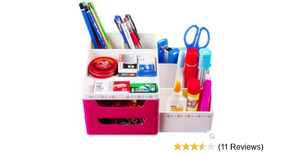Pen Holders Desk Accessories & Organizer Hearty Stick On Desktop Makeup Storage Pen Holder Plastic Desk Organizer Stationery Office Pen Pencil Holder