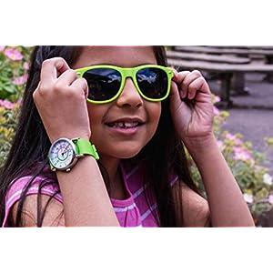 EasyRead ERW-COL-PT Armbanduhr für Lehrer, Regenbogenfarben, lime, 1