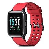 HOMVILLA Pulsera Actividad,Reloj Inteligente Impermeable IP68 con Pulsómetro Monitor de sueño Pulsera Deportiva Cronómetro Contador de calorias para Mujer Hombre Niños Compatible con iOS y Android