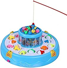 YeeHaw Fishing Game Toy Set with Single-Layer Rotating Board (Multicolour)