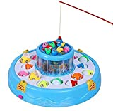 Best Kid Fishing Poles - YeeHaw Fishing Game Toy Set with Single-Layer Rotating Review