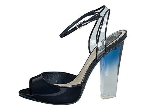 Dior Femmes Chaussures à talons hauts Cuir verni Bleu Marine