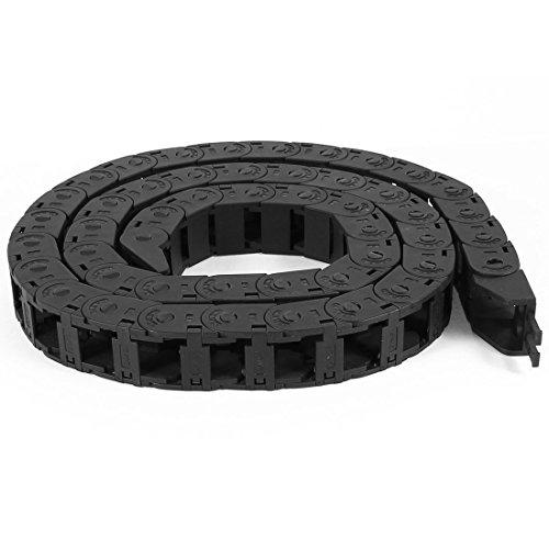 110cm Longueur flexible en plastique noir ouvert Câble chaîne Drag 15mm x 15mm