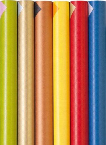 Geschenkpapier Color Frühling/Sommer 5 Rollen