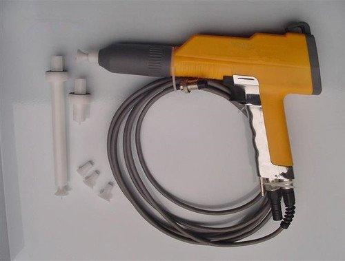 Capa del polvo electrostático GOWE solo sistema electroestimulación + un pedazo extra amarilla pistola