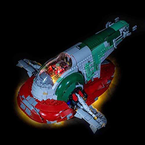 YOU339 LED-Lichtset für Slave Nr. 1 Star Wars UCS 75060, batteriebetriebenes LED Licht Baustein Zubehör Kit (nur LED im Lieferumfang enthalten, kein Lego-Kit) (Wars-handheld-spiel Star)