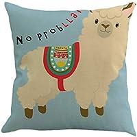 Cojines Decorativa Almohadas Fundas para Sofá Cama Sala de Estar Linda Alpaca Patrón Funda de Almohada