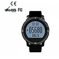 Intelligente Uhr Smartwatch Bluetooth sport Uhr,Schlafüberwachung,Multifunktionale,Heart Rate Monitor,Romte Capture,Fitness Tracker,höhe empfindliche Touchscreen intelligente Uhr,LED Dimmbarer Projektion Dual-Wecker