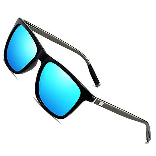 Occhiali da sole polarizzati vintage per uomo donna/ummer beach sport all'aria aperta bici corsa guida occhiali da sole (blue)