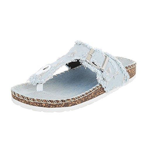 Ital-Design , Escarpins peep-toe femme bleu clair