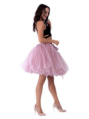 intage Tüllrock Prinzessin Falten Rock Tutu Petticoat Ballettrock Unterrock Pettiskirt One Size Rosa-02 (Diy Halloween-kostüme Für Schwangere Frauen)