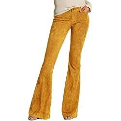 Vectry Mujer Ancho Falda Pantalon De Mujer Pantalones Blancos Pitillo Mujer Pantalones Vaqueros Mujer Talla Grande Pantalones Hippies Mujer Campana Pantalón Verano Mujer Pantalones