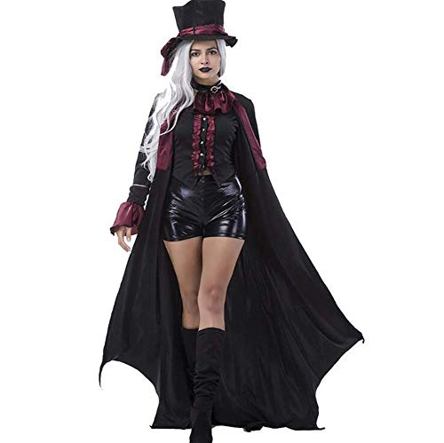 Yingsssq costumi adulti vampiro donna uomo halloween party vampire coppia cosplay fancy outfit abiti, donne, l (colore : women, dimensione : medium)