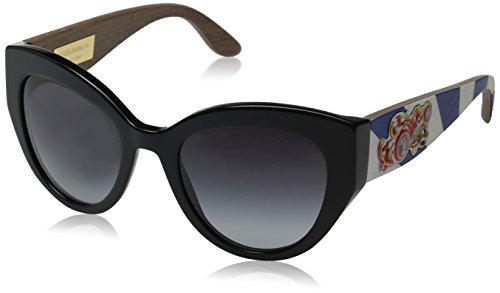 New Dolce & Gabbana DG 4278 501/8G Black Frame Grey Shaded Lens Sunglasses 52