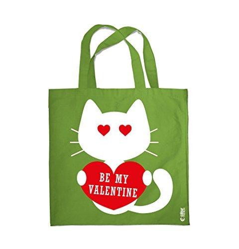 COLOUR FASHION Be My Valentino In Love GATTO NERO SPESA BORSA DA SPIAGGIA BORSA 0100 Pisello Verde Footlocker Libre Del Envío 4W3PM