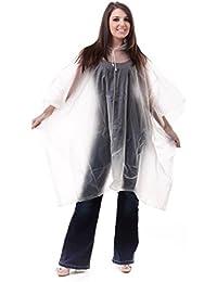 Rain Poncho Waterproof PVC Adult Size with Hood