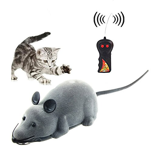 sp.katze/Giocattolo del mouse senza fili di telecomando RC Rat Per gatto domestico del cane del regalo della novità divertente grigio