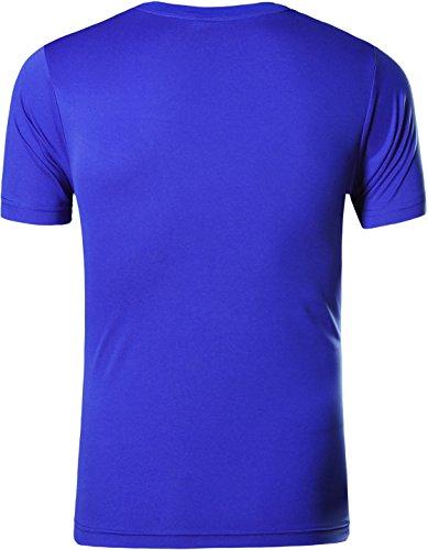 jeansian Herren Sportswear Quick Dry Short Sleeve T-Shirt LSL133 LSL111_Blue