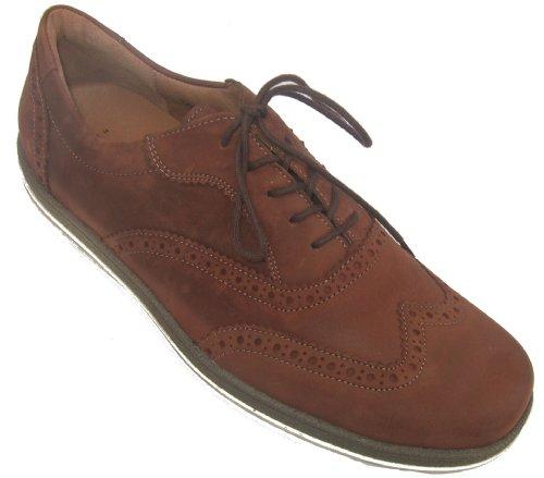 Waldläufer 530002-134-026 Pajero uomini scarpe pelle Larghezza H Marrone