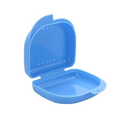 Contenitore per Protesi Dentarie ROSENICE 3 Pezzi Scatola Porta Dentiera Custodia Paradenti Bite Blu