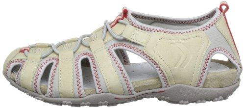 Geox D SANDAL STREL D7125U0EK15C5016, Sandali sportivi donna, Beige (Beige (BEIGE C5016)), 35