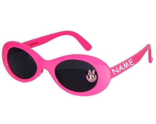 alles-meine.de GmbH Sonnenbrille -  Disney Minnie Mouse  - incl. Name - 1 bis 8 Jahre - 100 % UV Schutz - Brille - für Kinder Mädchen - Kinderbrille - Playhouse / rosa pink - M..