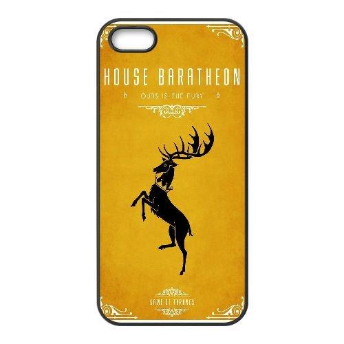 O4N81 Game of Thrones Maison Baratheon E1V6UY coque iPhone 5 5s cellule de cas de téléphone couvercle coque noire FP6NRJ2DU