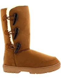 Mujer Triplet Toggle Classic Tall Fur Impermeable Invierno Rain Nieve Botas