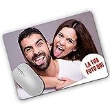 LaMAGLIERIA Tappetino per Il Mouse Personalizzato con la Tua Foto - Mouse Pad Personalizzato Rettangolare