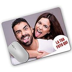 Idea Regalo - LaMAGLIERIA Tappetino per Il Mouse Personalizzato con la Tua Foto - Mouse Pad Personalizzato Rettangolare