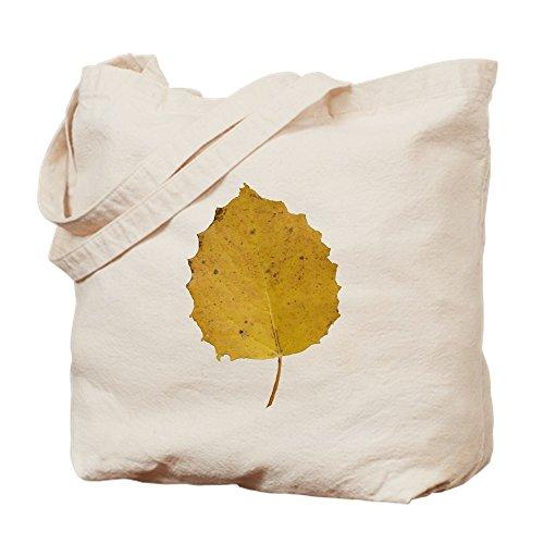 CafePress Tragetasche Golden Aspen Leaf, canvas, khaki, S