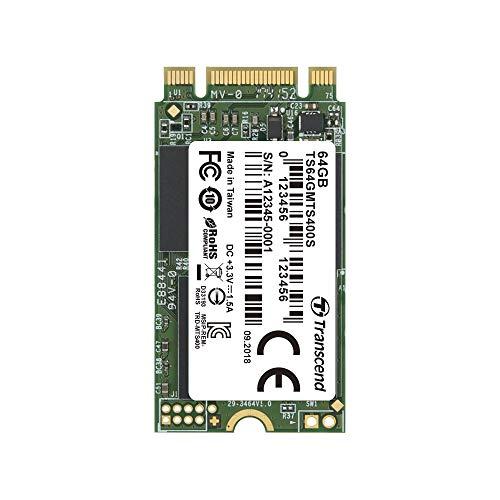 Transcend 64GB SATA III 6Gb/s MTS400S 42 mm M.2 SSD 400S SSD TS64GMTS400S (64 Gig Ssd)