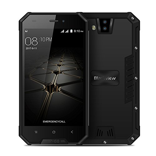 Blackview BV4000 3G Outdoor Smartphone Ohne Vetrag, 4.7 Zoll HD Android 7.0 Quad-Core 1GB RAM+8GB ROM, 2.0MP + 8.0MP Kamera 3680mAh IP68 Wasserdicht Stoßfest Staubdicht,Dual SIM Handy