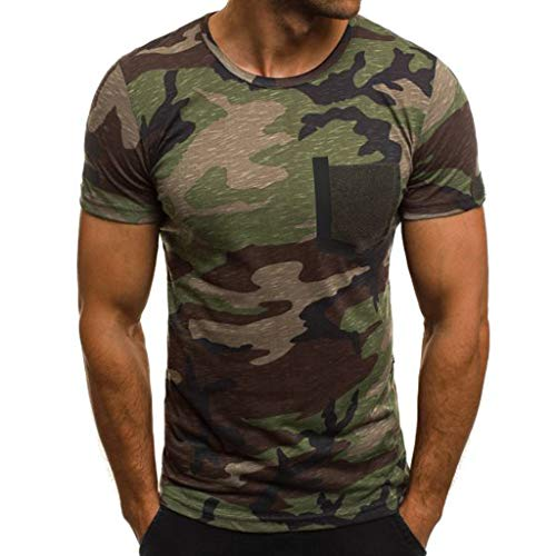 750a78617e DIKEWANG Men's New Summer O-Neck Unisex Casual 5D Camouflage Printing  Elastic Short Sleeve T