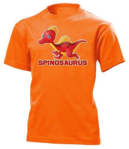 der T-Shirt (K-Ora) Gr.128 (Orange Triceratops Kostüm)