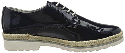 Marco Tozzi 23713, Scarpe Stringate Basse Oxford Donna Blu (Navy Patent 826)