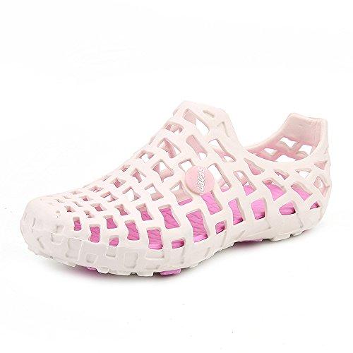 Fashion Loch Sandalen atmungsaktiv und leicht Sommer waten Schuhe white powder