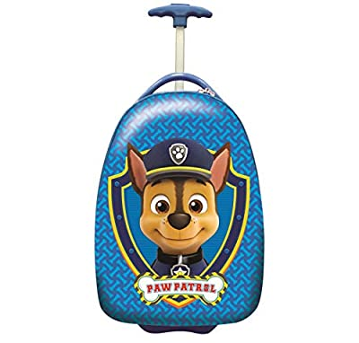 LEXIBOOK-La Patrulla Canina-Maleta de Viaje de Chase, 42cm, asa telescópica y Ruedas Luminosas FSC100PA, Color Azul por LEXIBOOK