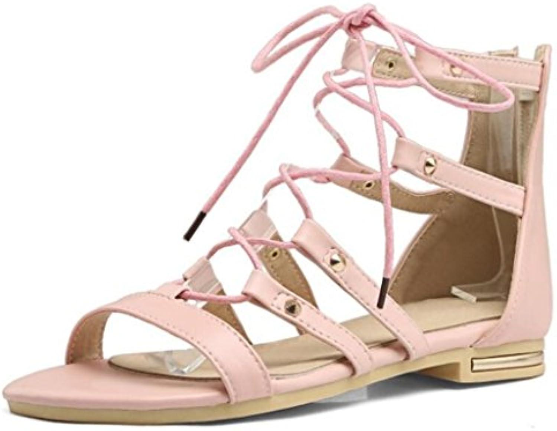 Sandalias Peep-Toe de Mujer Zapatos de Tacón Alto con Plataforma Beige/Negro Talla 34-40 (Color : Negro, Tamaño : 39) -