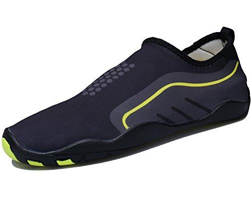 Bdawin Zapatos de Agua de Playa Hombres Secado Rápido Descalzo Aqua  Calcetines para Buceo Surf Natación a16e22ce03f