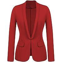 Geili Damen Blazer Anzug Elegante Langarm Einfarbige Anzugjacke mit Stehkragen Frauen Slim Fit Business Büro Jäckchen... preisvergleich bei billige-tabletten.eu