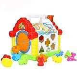 Nlatas Baby Entdeckerwürfel, Baby-Spielzeug Sortierung Formen Bump Häuser Frühe Bildung Spielzeug Puzzles Spielzeug Baby Bildungs-Spielzeug für Kinder