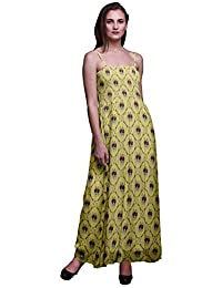 Bimba Stampato Donna Georgette Flowy Smocked Spaghetti Strap Dress Long  Maxi Tube Abito Corpetto d313dffec71