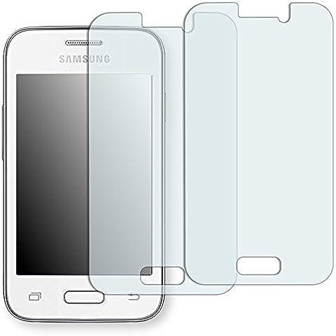 2 x protectores pantalla Golebo para Samsung Galaxy Young 2. Lámina protectora adhesiva invisible